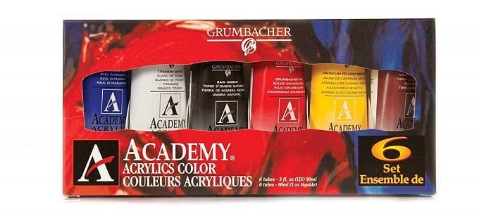 GRUMBACHER Academy Acrylic Paint Review
